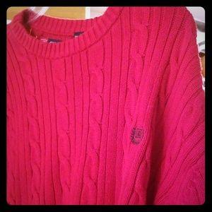 Men's XXL Red Chaps Crew Neck Sweater. GUC